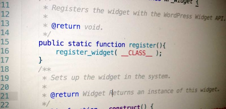 Widget Registration Static Method