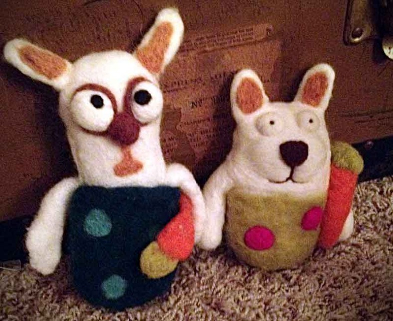 Felted Bunies